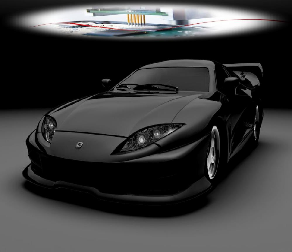 Sports car tuning background